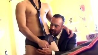 Muscle sexy double blowjob fisting